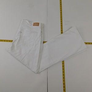 Levi's 14M White Denim Jeans 515 Bootcut E-15-9415